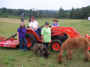 Tractor with Family
