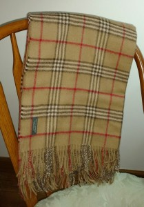 camel plaid alpaca blanket