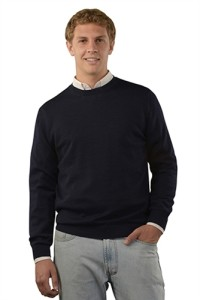 mens crewneck navy alpaca sweater