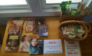Knitting and Crochet Books, Needles and Notions are all On Sale 50% Off!